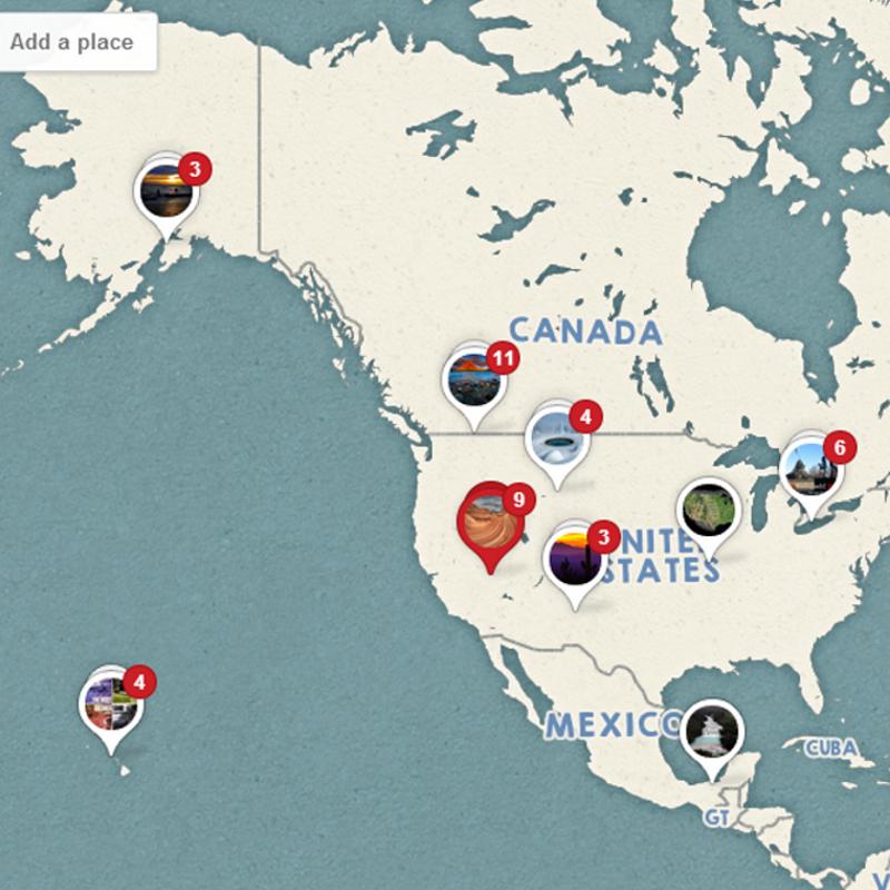 N. Am. Pinterest Map