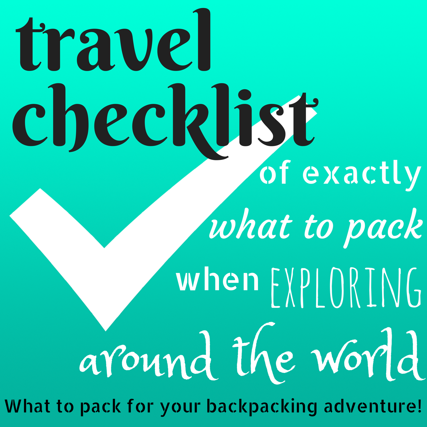 Travel Checklist | HOLE STORIES