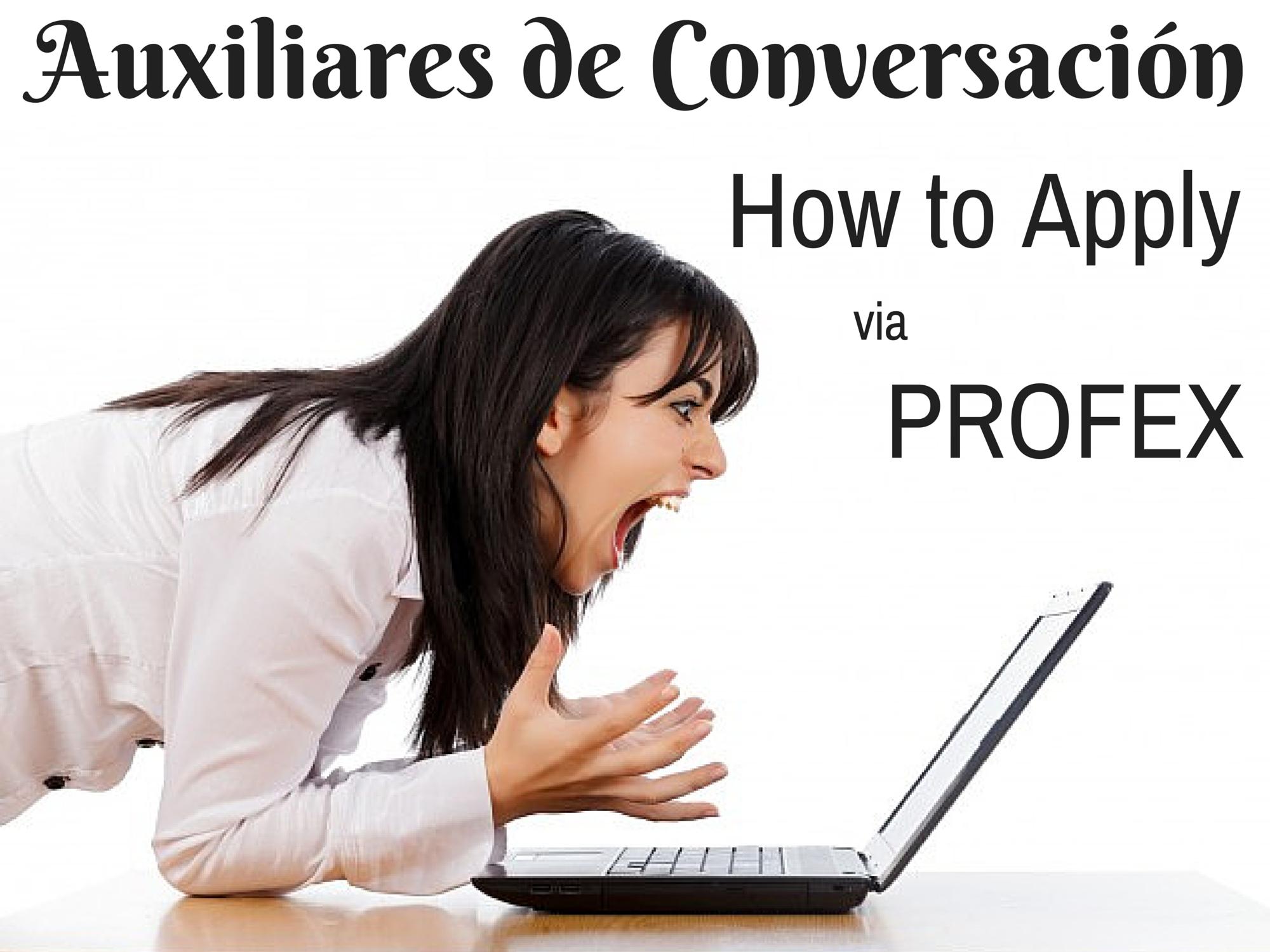 Auxiliares de Conversación, How to Apply via PROFEX | HOLE STORIES