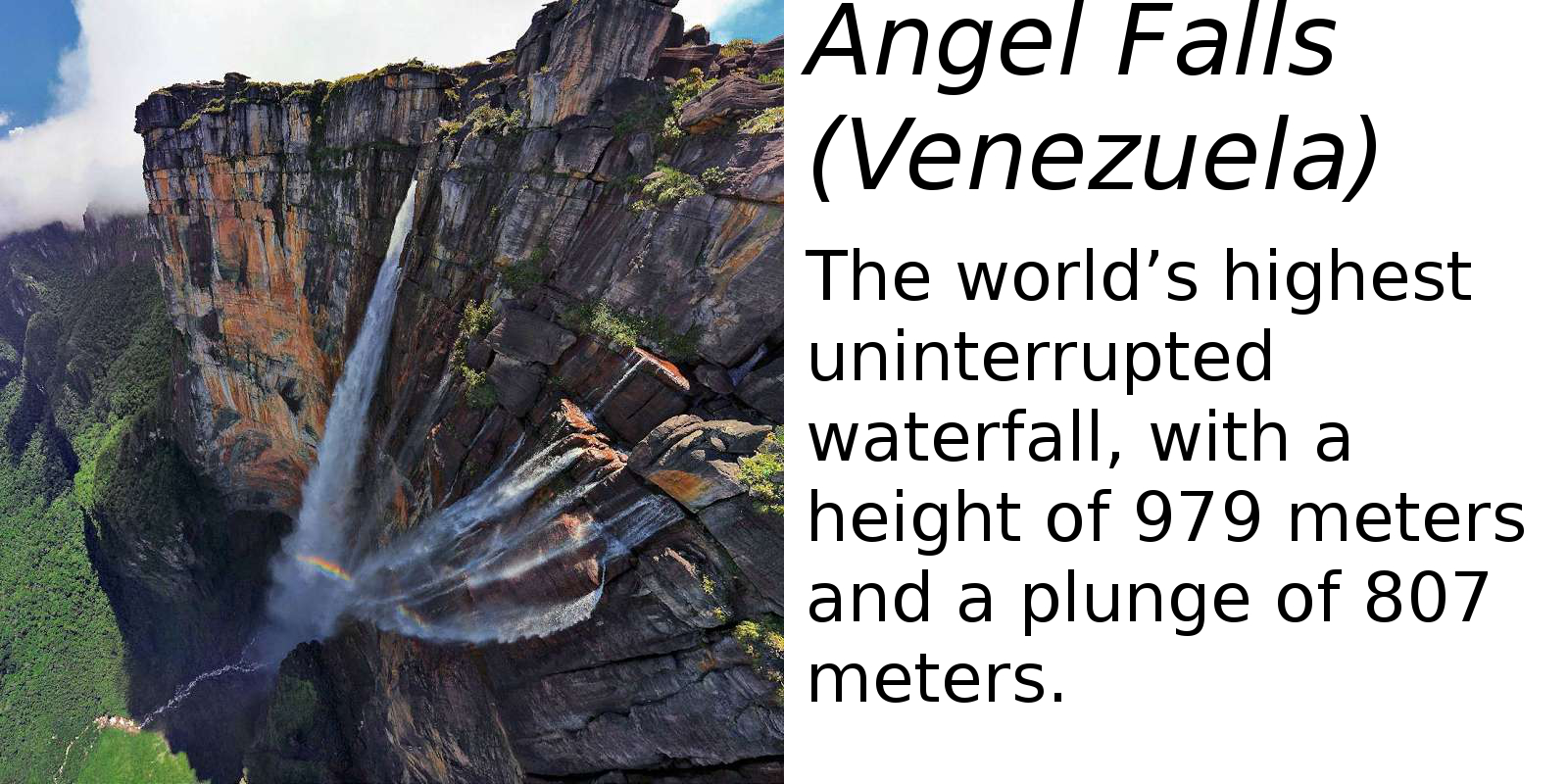 Angel Falls (description) #2