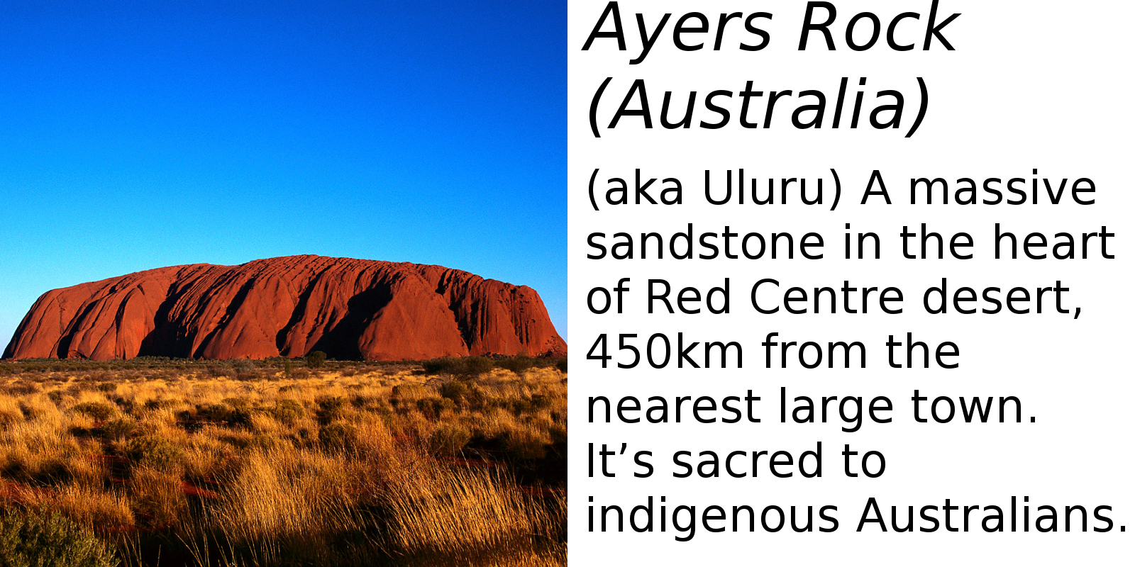 Ayers Rock (description) #2