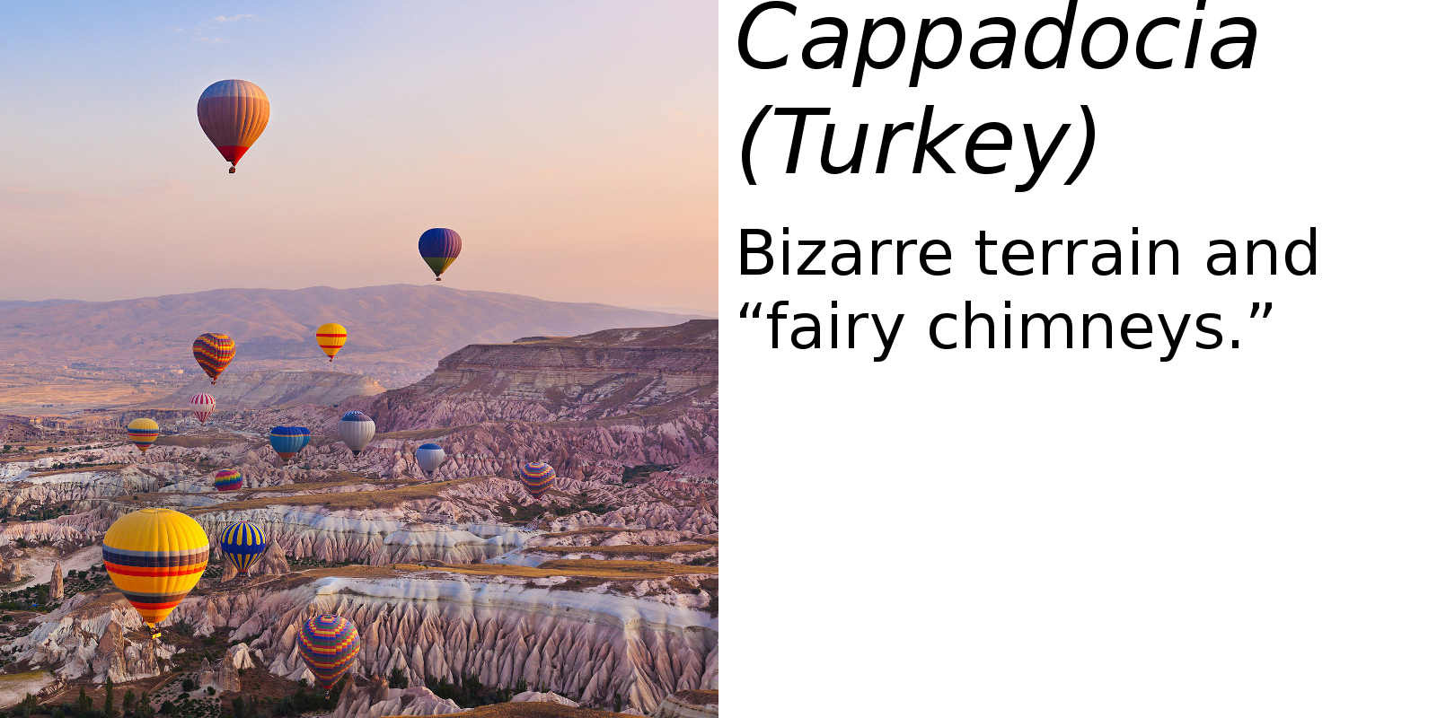 Cappadocia, Turkey (description) #2