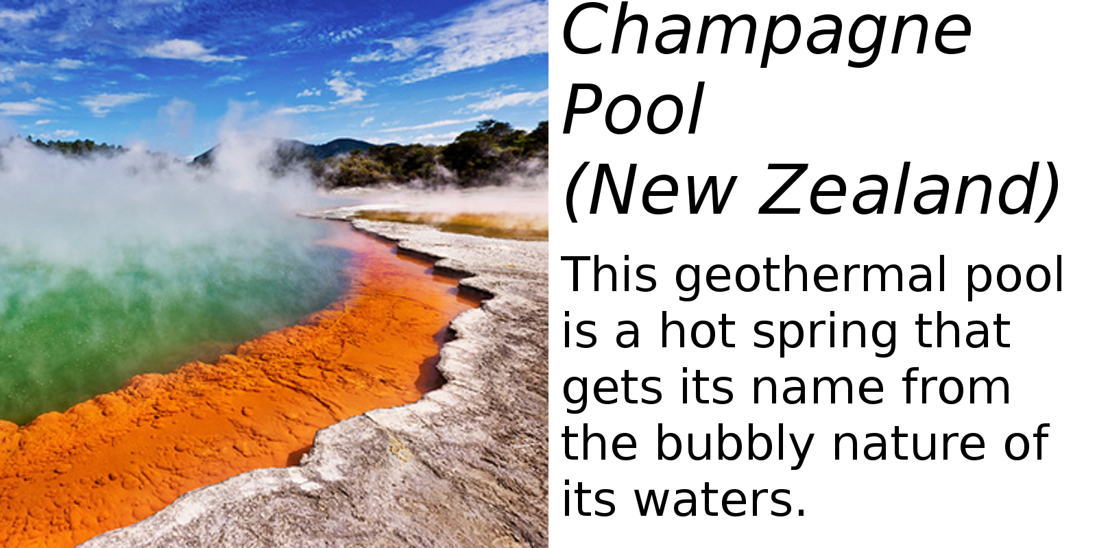 Champagne Pool, New Zealand (description) #2