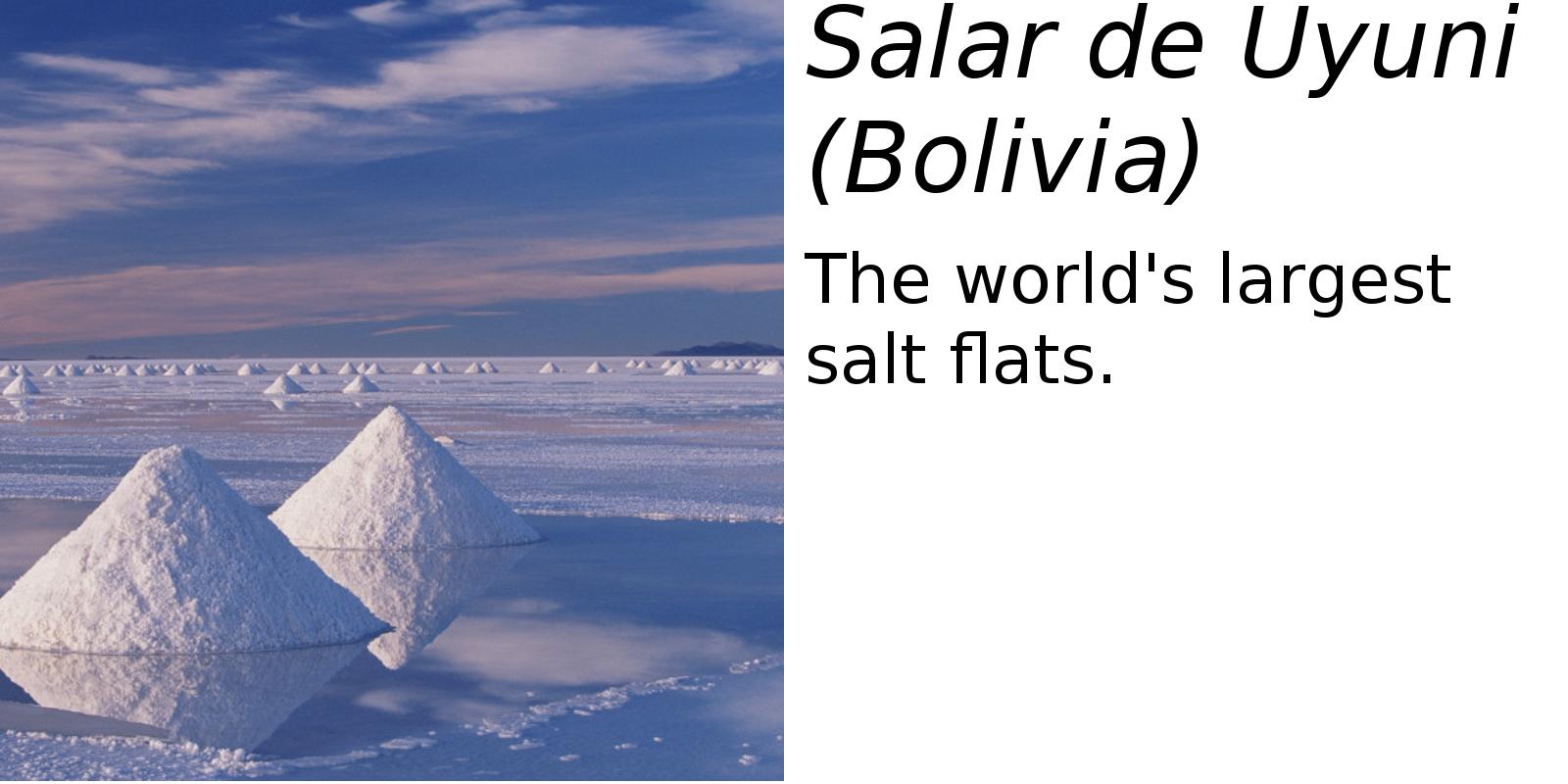 Salar de Uyuni Salt Flats (description) #2