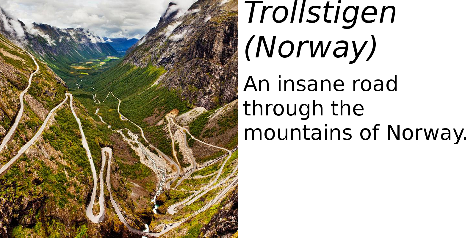 Trollstigen, Norway (description) #2