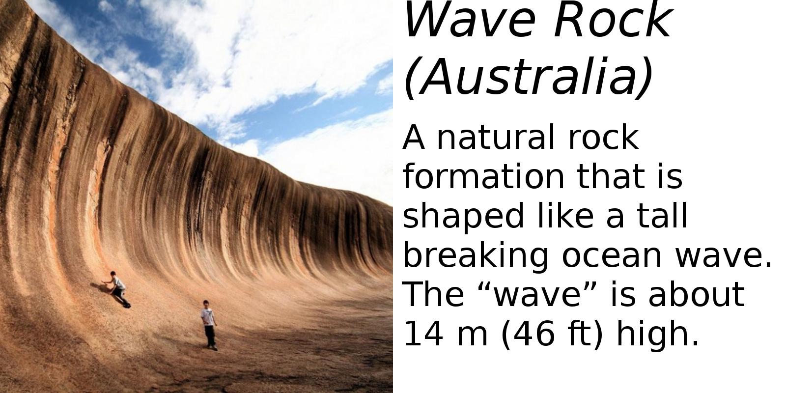Wave Rock (description) #2