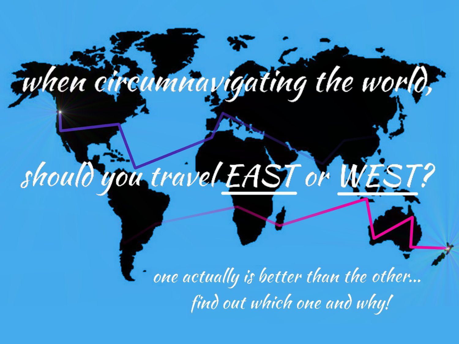 When circumnavigating the world, which direction is better to travel? EAST or WEST? | HOLE STORIES