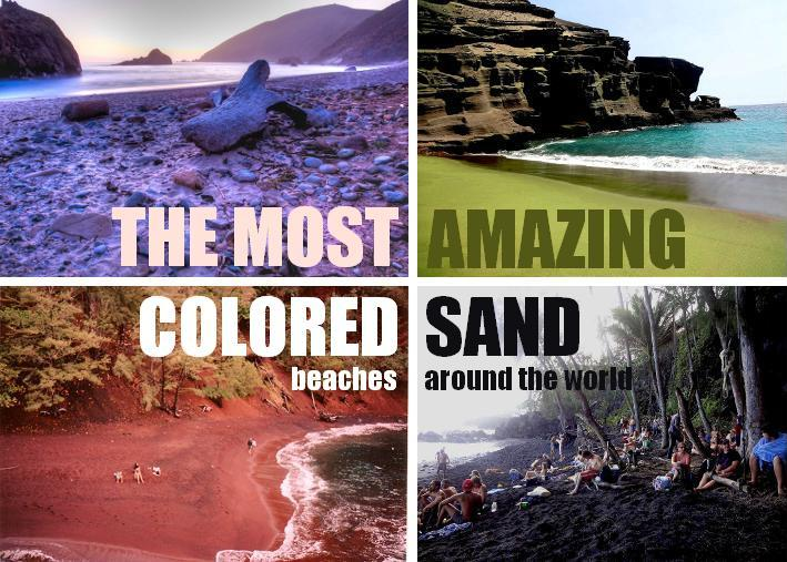The Most Amazing Colored Sand Beaches Around the World! | HOLE STORIES