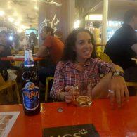 Me, sitting in China Town, enjoying my Tiger beer