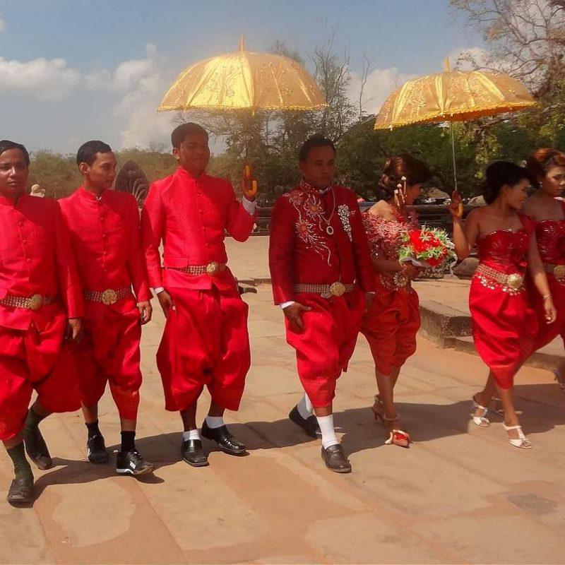 Traditional Cambodian wedding at Angkor Wat, Cambodia