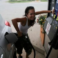 Canada - filling up my SUV